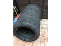 Winter tyres size 215/55 R17 set of 4 second hand with 7mm tread