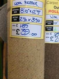 Wool carpet, brand new, 8 ft 10 x 12 ft 9 bargain £39