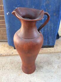 Tall clay vase