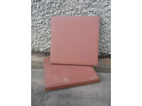 27 'quarry' tiles 10cm sq, as new (nearly Vintage)
