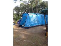 Vango Asante steel frame tent with extension and footprint