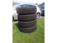Four Landrover Freelander Tyres 195/80R15