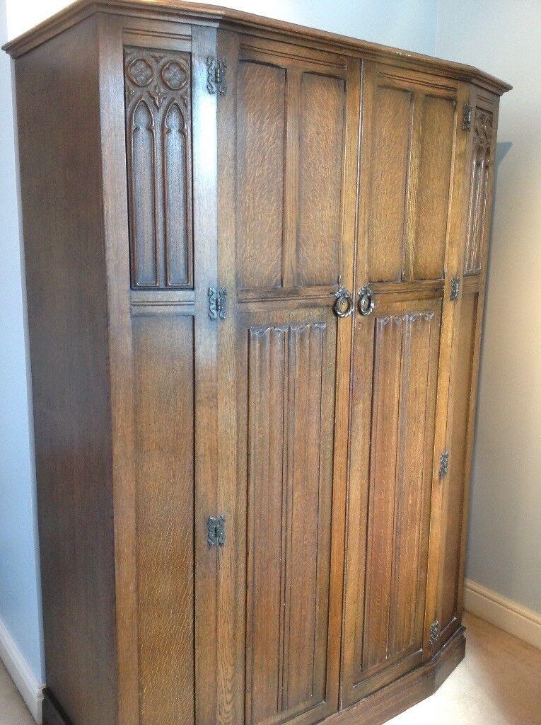 Large Gothic Style 1930s Wardrobe
