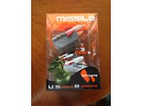 Missile launcher, one new £10, one used £5
