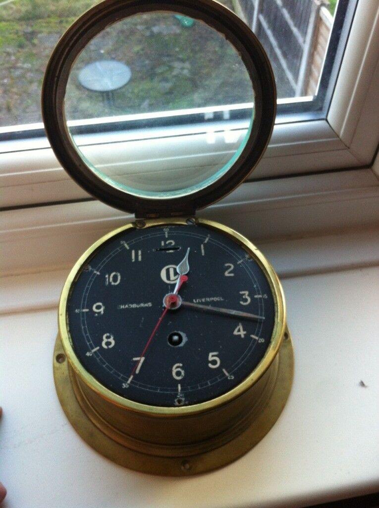 Brass Ships Clock Chadburns Liverpool In Liverpool