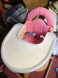 Wooden High Chair by sven