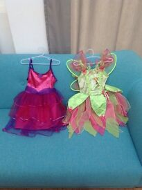 Dress up costumes. Tinkerbell and Cupcake.