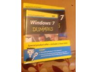 Windows 7 for Dummies Book and DVD set (brand new - still sealed