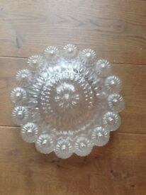 Old Glass Ceiling Light Shade Daisy Shaped
