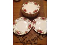 Royal Albert old country rose salad plates
