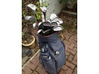 Bullet golf bag and clubs ALL LEFT HANDER
