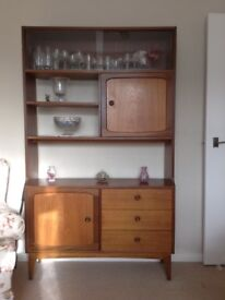 1970s Retro Vintage G Plan Room Divider Teak width 107cm 2 cupboards 3 drawers 3 shelves