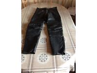 Motorbike boots jacket & trousers