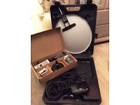 Caravan satellite dish and receiver kit all in case