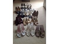 Selection of ladies sandals and shoes size 5