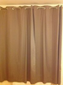 3 X pairs of Next twill new mink eyelet fully lined Curtains