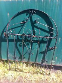 Rustic ( not rusting ) wrought iron garden gate