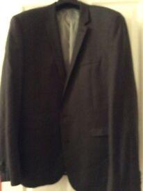 Next Men's slim fit suit, dark grey