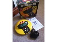 Grandstand Munchman, boxed vintage handheld game, good condition.