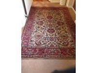 Vintage Persian rug , length 6ft 8 ins, width 4ft 6ins