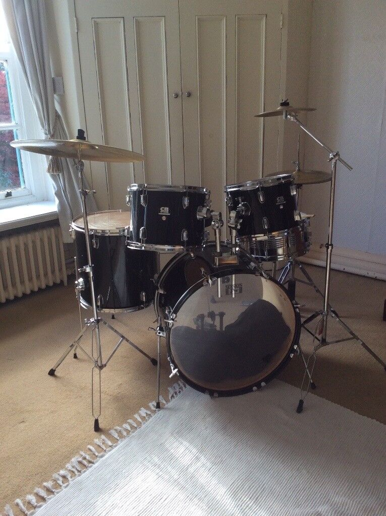 Full size CB drum kit complete with cymbals, stands, seat, etc.
