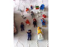 Playmobil vintage ambulance with people