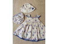 Miniclub 3 piece dress set 0-3 months