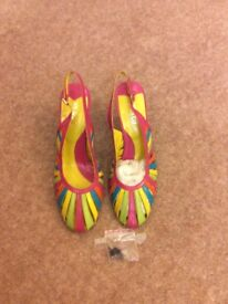 Multi coloured ladies shoes size 6. Real leather