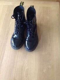Women's Dr Martens Airwair Black Patent Boots for sale