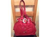 Soft Red Leather Bag with Dust bag NEW