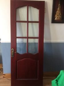 Solid mahogany inside door