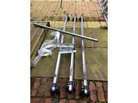 Rhino roof bars x3 & roller ford transit mrk 6/7