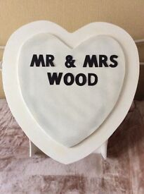 Wedding Day Post/Letter Box Heart Shape
