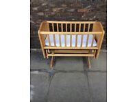 Mothercare wooden gliding crib
