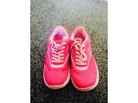 Size 5 uk pink trainers
