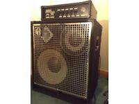 Ashdown Spyder 330 bass amp and SWR Triad cabinet