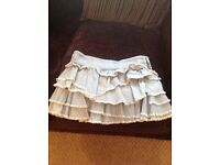 LIGHT WASH DENIM MINI SKIRT FROM RIVER ISLAND SIZE 10