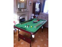 6ftx3ft snooker& pool table