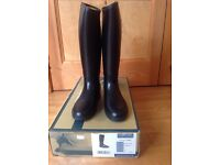 Harry Hall black PVC riding boots size 4