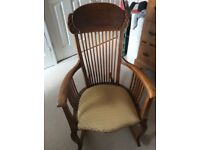 Solid wooden rocking chair with classic pattern