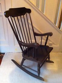 Vintage Green Rocking Nursing Chair Perfect for Christmas by the Fire / Can Deliver
