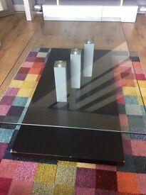 Tokyo glass coffee table