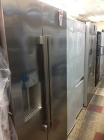 Silver Beko American fridge freezer new graded 12 mth gtee