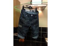 Like new Denim jean shorts size 28 waist ideal summer teen/ small man, my teens out grown them £5
