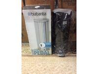 Brabantia Pedal Bin Slimline Design with Plastic inner Bucket 20L Matt Black