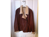 Brown Leather and Sheepskin Jacket