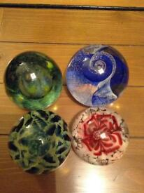 Four paperweights in excellent condition, one is Caithness Glass £10