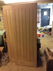 4 x Oak cottage doors internal