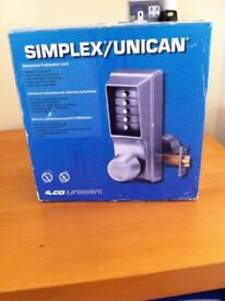 Mechanical Push Button Lock made by Simplex NEW
