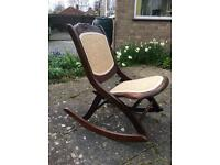 Small foldable rocking chair